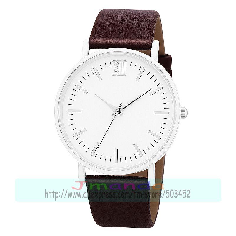 100 pcs/lot 8593 keine logo weiß fall leder uhr wrap quarz casual exklusive armbanduhr für frauen männer großhandel