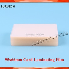 Gratis CP 50mic (2mil) 100 Uds 95x66mm PVC transparente brillante 2 tapas bolsa de laminación película Tarjeta De Nombre protección para laminador caliente