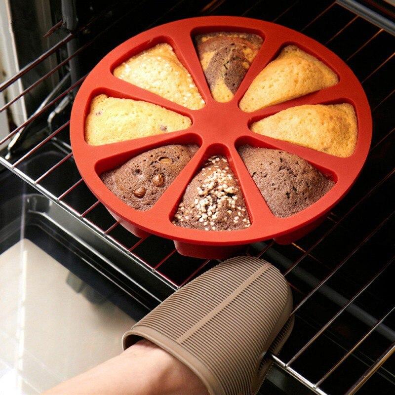 8 grades Casa Cozinha Molde de Silicone Bolo Redonda Bolo Feito À Mão DIY Cozimento ferramentas fondant Molde Ferramentas Cozimento Pastelaria sobremesa