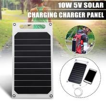 CLAITE 5V 10W bricolage panneau solaire lumière mince chargeur USB charge Portable batterie externe Pad universel pour téléphone éclairage chargeur de voiture
