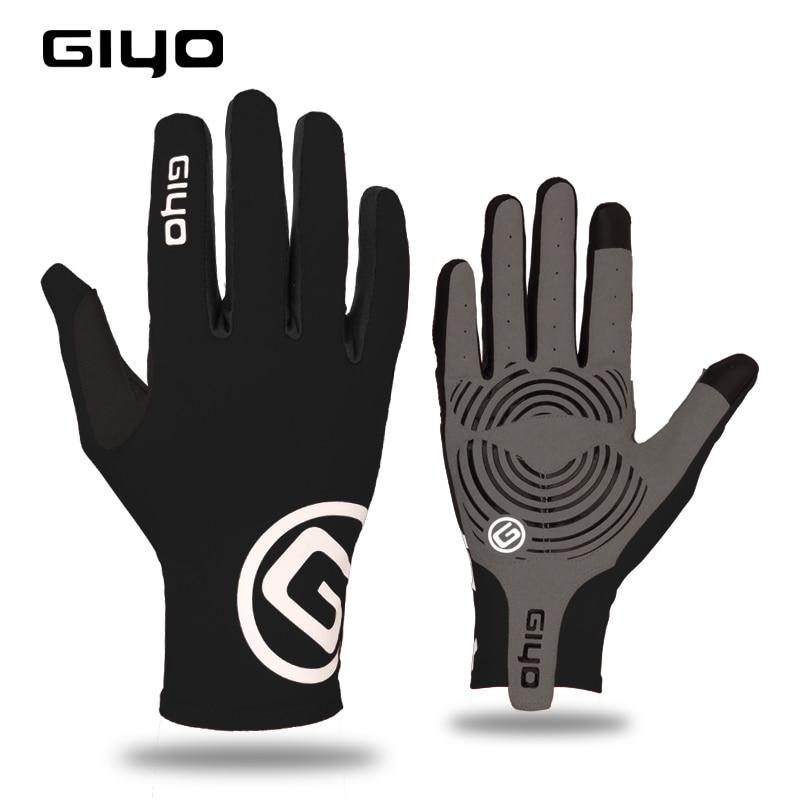 GIYO спортивные длинные перчатки с сенсорным экраном, гелевые спортивные перчатки для езды на велосипеде для женщин и мужчин, велосипедные перчатки для езды на горном велосипеде, гоночные перчатки