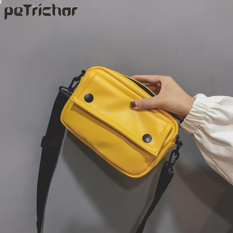 Cuadrado pequeño bolso Mini amarillo de mensajero de mujer, bolsos de hombro de moda de bolsos de cuero bolsos de marca famosa de diseño