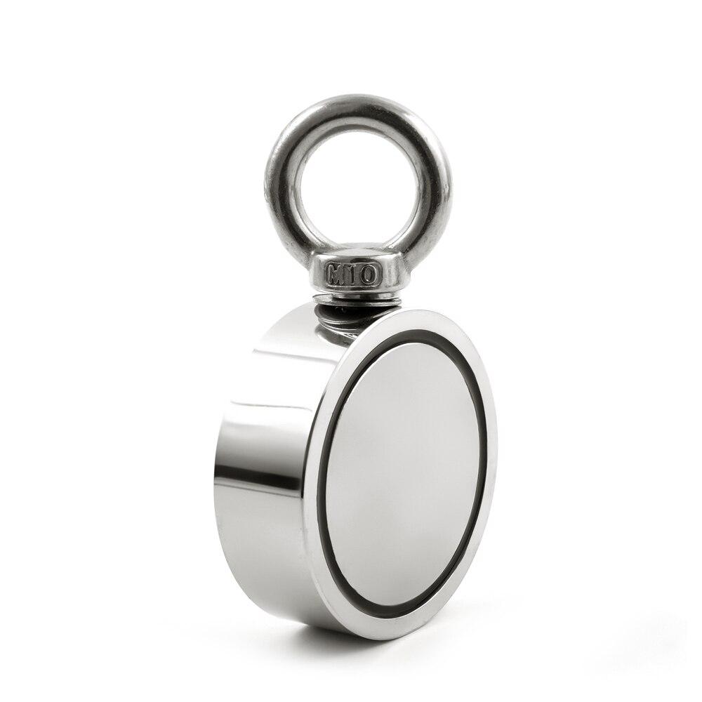 U-JOVAN 1pc Salvage Double-side Neodymium Magnet Super Powerful Circular Ring Hook Sea Fishing Permanent Holder Magnet