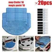 20 teile/los Roboter Mop Tücher + Magie Paste Kit für Xiao mi mi Robotic Staubsauger Teile