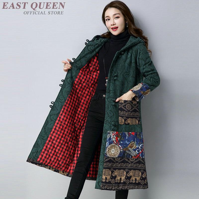 Manteaux dhiver chinois pour femmes manteaux femme hiver 2018 broderie AA3226 F