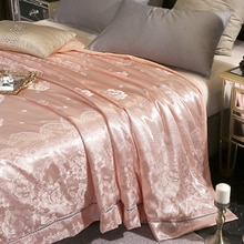 Couette de climatiseur couette/couverture/couette   Luxueux couette dété en soie Jacquard coton couette fine, 9 couleurs disponibles # s