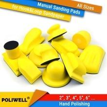 All Sizes Hand Hook & Loop Back-up Sanding Pads for Abrasives Sandpaper Sanding Discs for Woodworking Manual Polishing Tools
