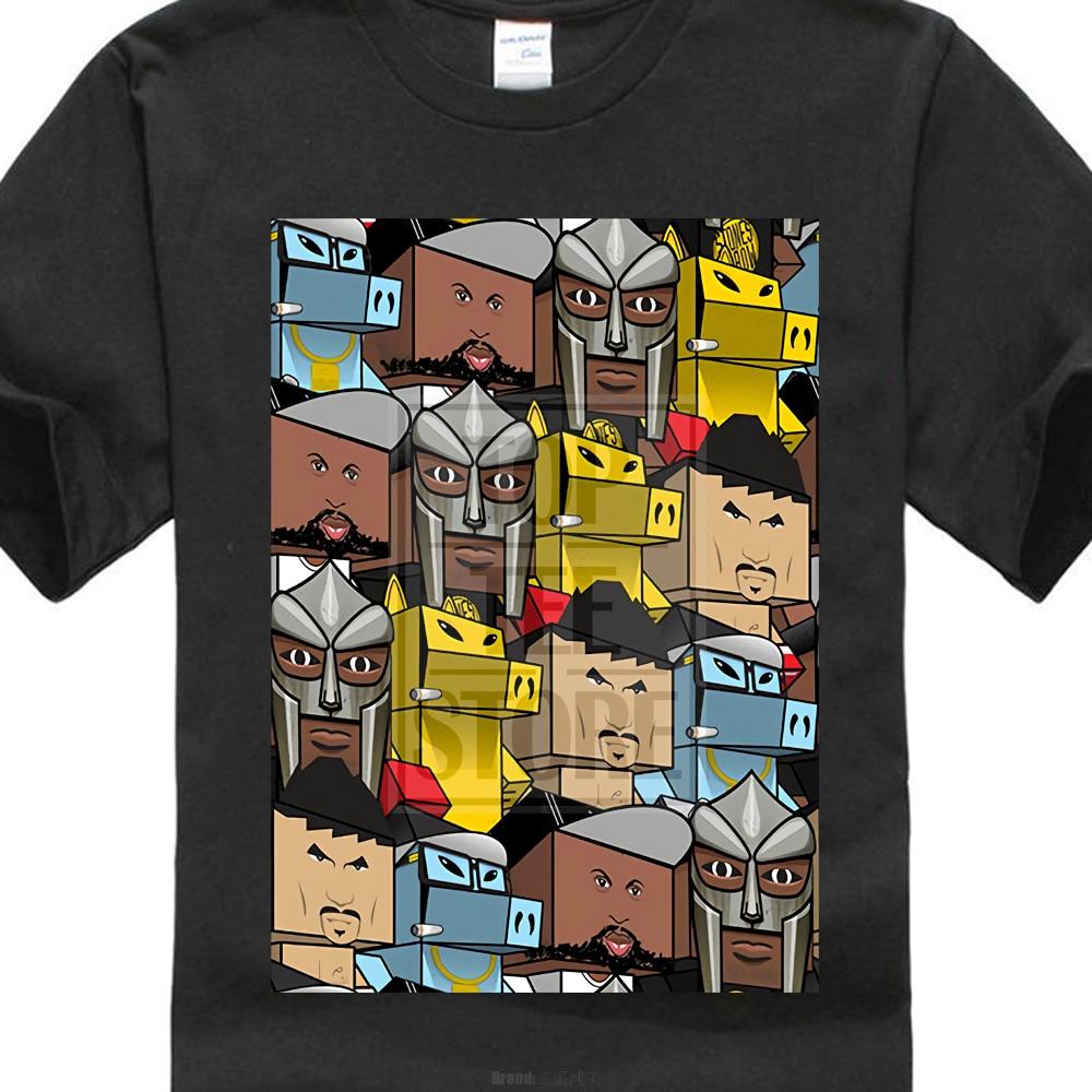 Quasimoto Mf Doom Madlib gueto chicos obra de arte Rap Hip Hop hombres Top camiseta negro novedad Cool Tops hombres Camiseta de manga corta