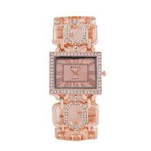 Lintimes Vrouwen Horloges Zilver Goud Kleur Stijlvolle Elegante Vierkante Dial Crystal Holle Stalen Band Armband Quartz Horloge