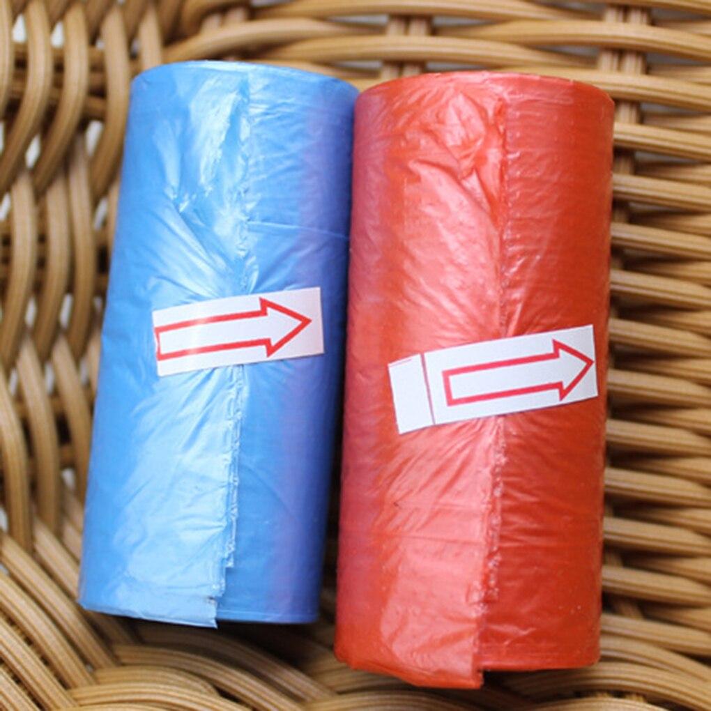 Pequeño rollo de bolsas de basura de plástico bolsas de basura una sola vez 15 uds/rollo
