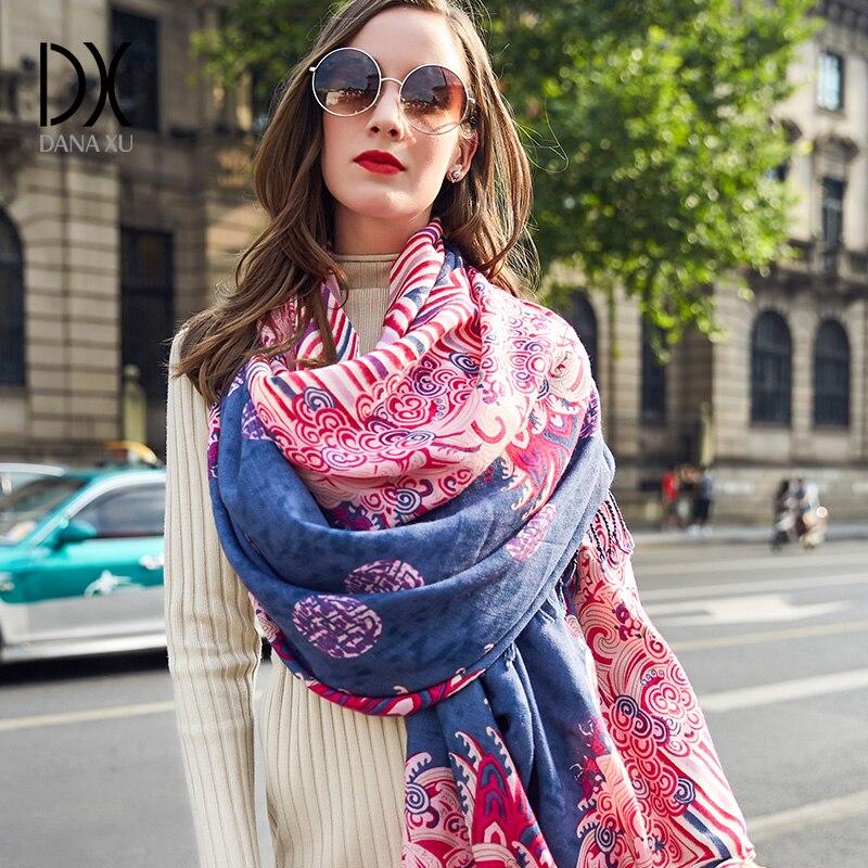 2019 New Women Winter Fashion Boho Style Plaid Thick Warm Poncho Wool Sweater Pashmina Scarves and Stoles Oversized Blanket Wrap
