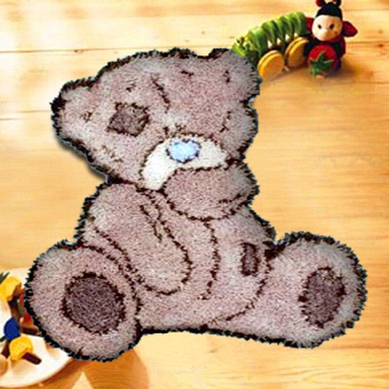Набор насадок для рукоделия «сделай сам», набор крючков с защелкой, ковер с вышивкой, рисунок мультяшного медведя
