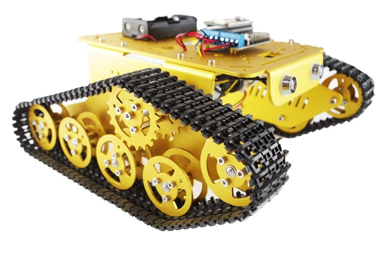 RC WiFi Robot tanque Chasis de coche controlado por Android/iOS teléfono basado en Nodemcu ESP8266 tablero + Motor Drive Shield DIY