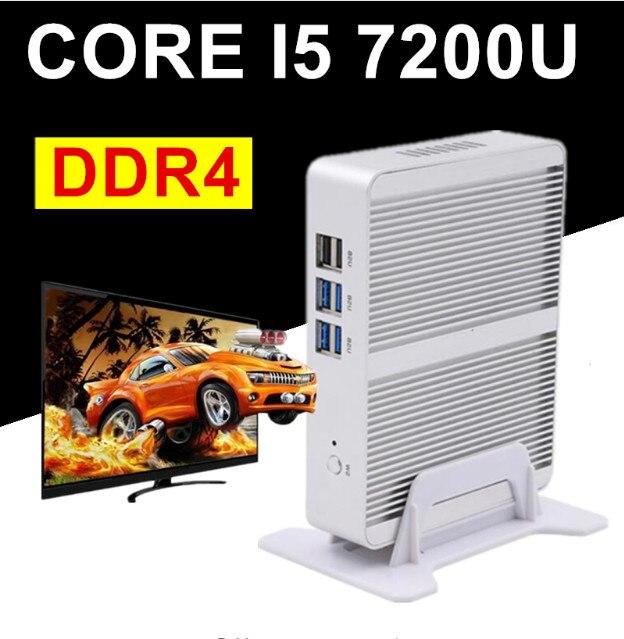 EGLOBAL NUC Intel Core i5 7200U i3 7100U DDR4 Max 16 go Mini PC Linux Windows 10 620/520 HD graphique 4K HTPC HDMI VGA ordinateur