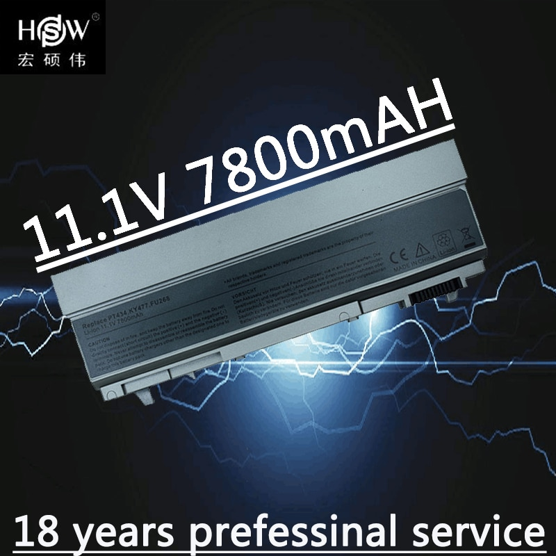 Аккумулятор для ноутбука HSW, 7800 мАч, для Dell Latitude E6400 E6410 E6500 E6510 Precision M2400 M4400 M4500 M6400 M6500 1M215 312-0215
