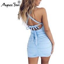 Vestido de encaje sin espalda vestidos de las mujeres 2019 novedad de verano Sexy Spaghetti Correa vestido de fiesta en Club de señora vestido lápiz vestido