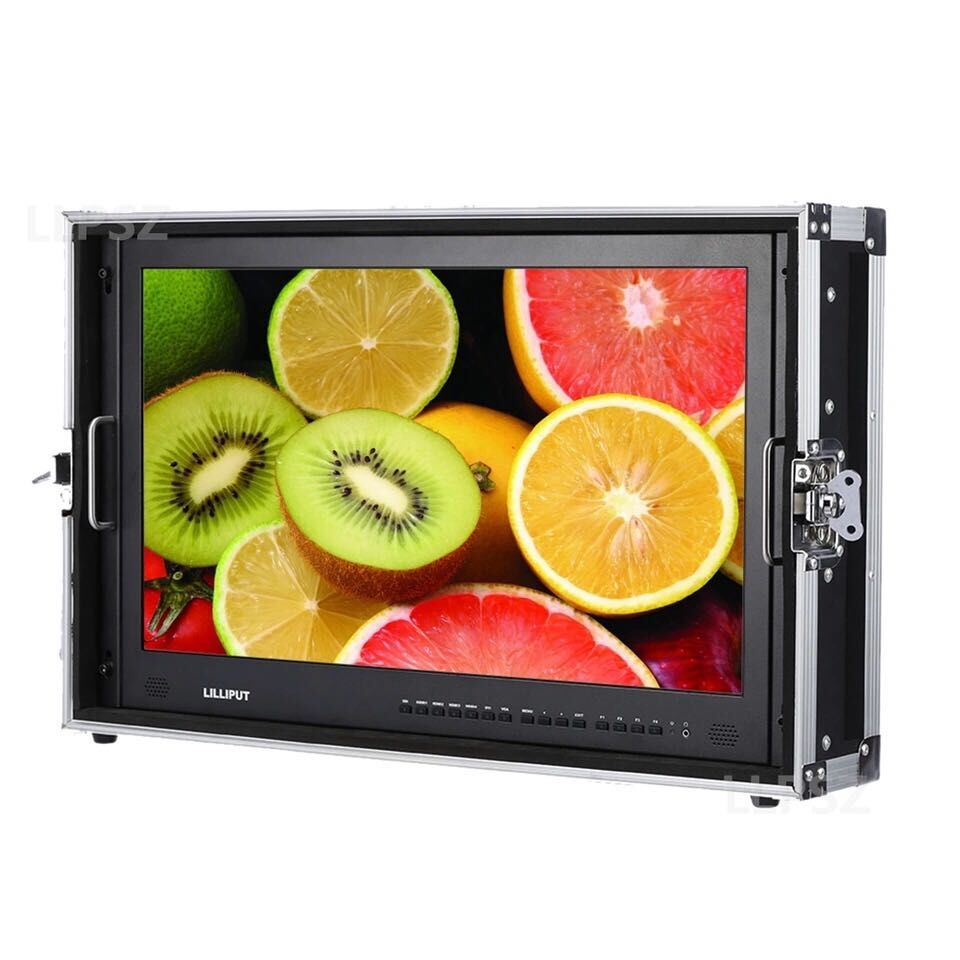 "BM230-6G Lilliput 23.8 ""3840x2160 K 6 4G SDI Monitor HD Ultra Carry-on Caixa De Alumínio monitor de transmissão Quad Tela Multiviewer"