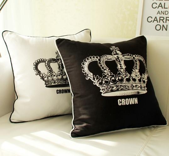 Crown Eiffel Tower Cushion Cover Keep Calm Pillow Case Paris Pillow Cover bedroom Sofa Decoration Gift