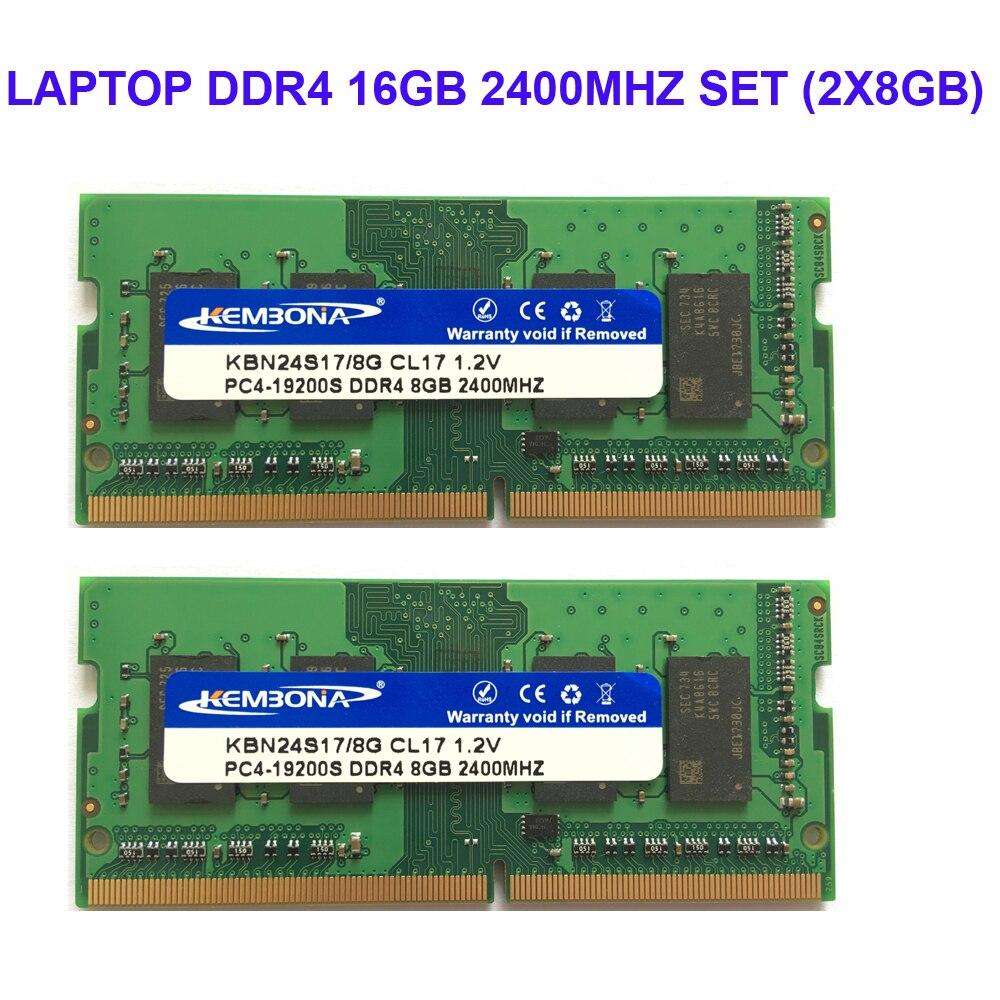 Kembona LAPTOP DDR4 16GB KIT (2X8 GB) RAM Speicher 2400mhz 2666MHZ Memoria 260-pin SODIMM RAM Stick freies verschiffen