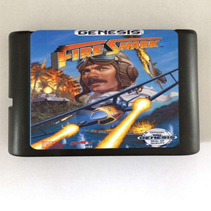 Fire Shark Game Cartridge Newest 16 bit Game Card For Sega Mega Drive / Genesis System