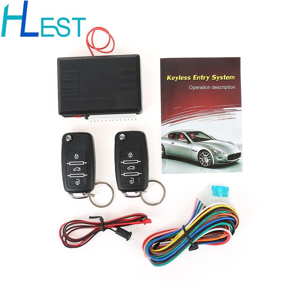 Sistemas de alarme de carro de controle remoto central bloqueio universal kit keyless sistema entrada