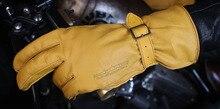 Gant de moto en cuir rétro indien   UBG301 Ha-lle gant de moto, gant de moto Long taille