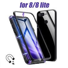 Magnetic Adsorption Phone Case on For Xiaomi mi 8 lite mi8 8 case covers Coque Luxury Magnet Cover xiomi 8 8lite light Fundas