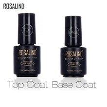 Rosalind outils de décoration pour ongles Led & UV couche de finition Vernis à ongles Vernis noir blanc bouteille 7ML Vernis à ongles UV Transparent