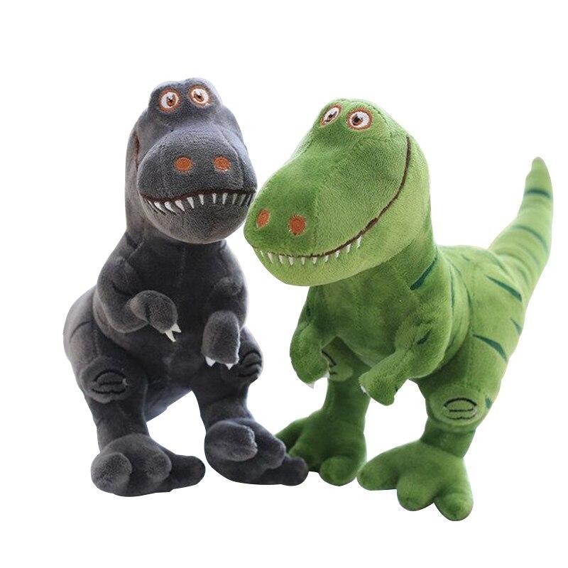 Jurassic Dinosaur Dolls Simulation Animal Plush Toy Cartoon Green Gray Stuffed Toys Kids Birthday Gift Boy Girl