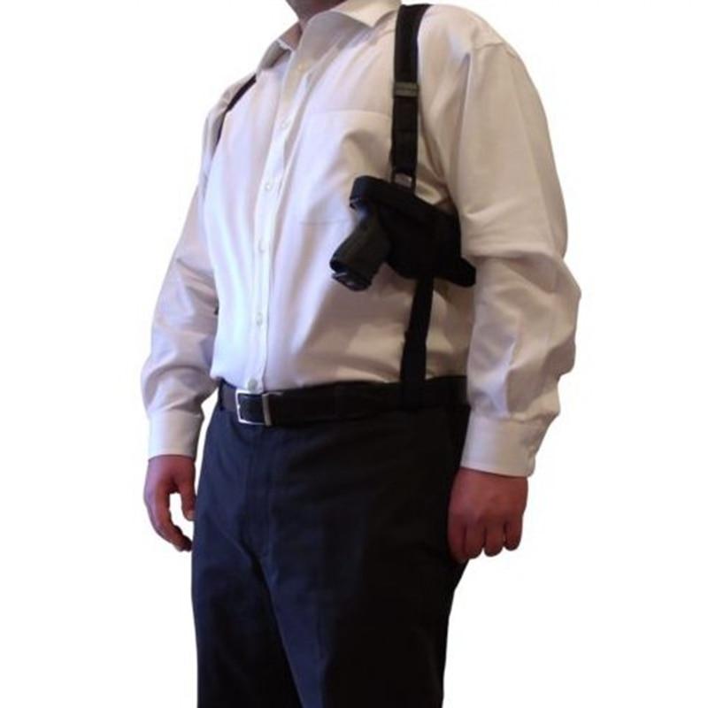 Тактическая универсальная Скрытая кобура на плечо для Glock 17 Beretta M92 страйкбол пистолет Скрытая кобура регулируется с мешочком для журналов