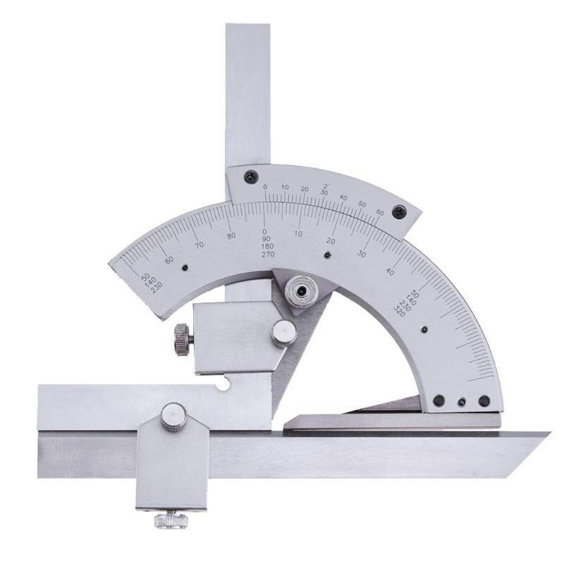 Edelstahl Winkelmesser 0-320 Grad Präzision Winkel Lineal Mess Finder Herrscher Einstellbar Nonius Winkelmesser Mess Lineal