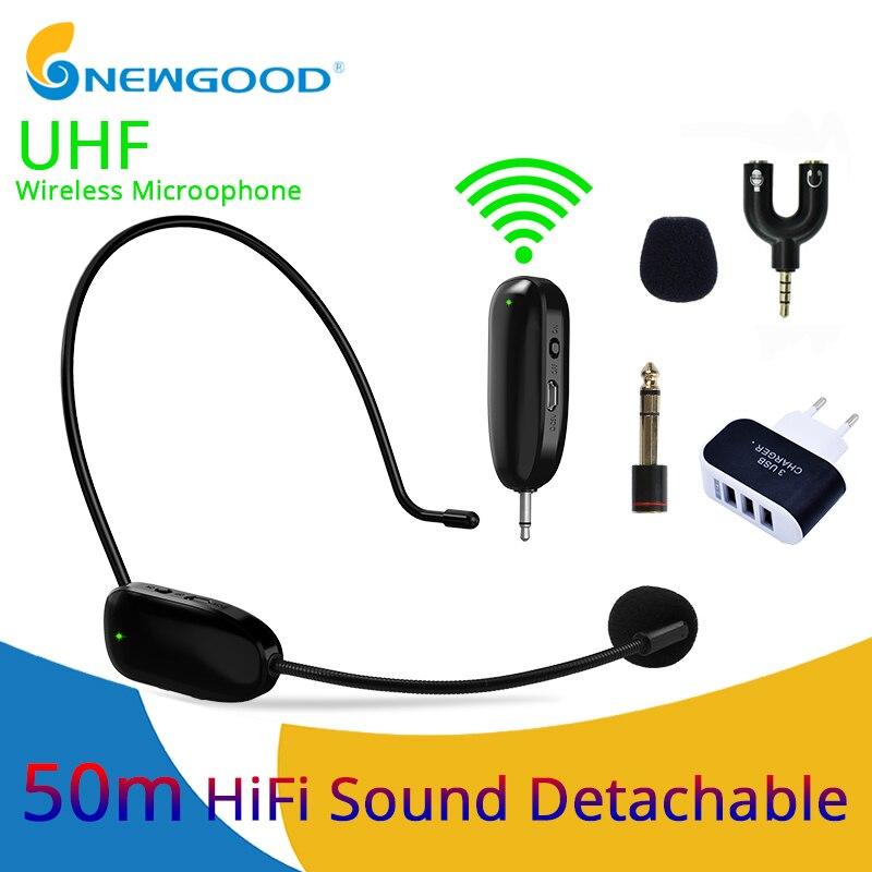 Microfone profissional uhf sem fio microfone fone de ouvido sistema lapela lapela microfone receptor transmissor para o telefone móvel gravador