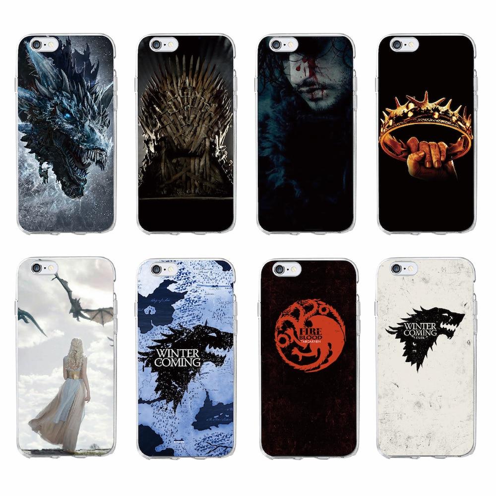 For iPhone 11 Pro Max 7 7Plus 6 6S 8 8Plus X 5 5S SE XS Max Game Thrones Wolf  Soft TPU Phone Case Cover Coque Fundas