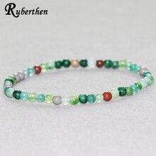 Bracelet de pierre de sang de Ruberthen Bracelet de perles de pierre de 4mm Mini Bracelet dénergie de pierre gemme
