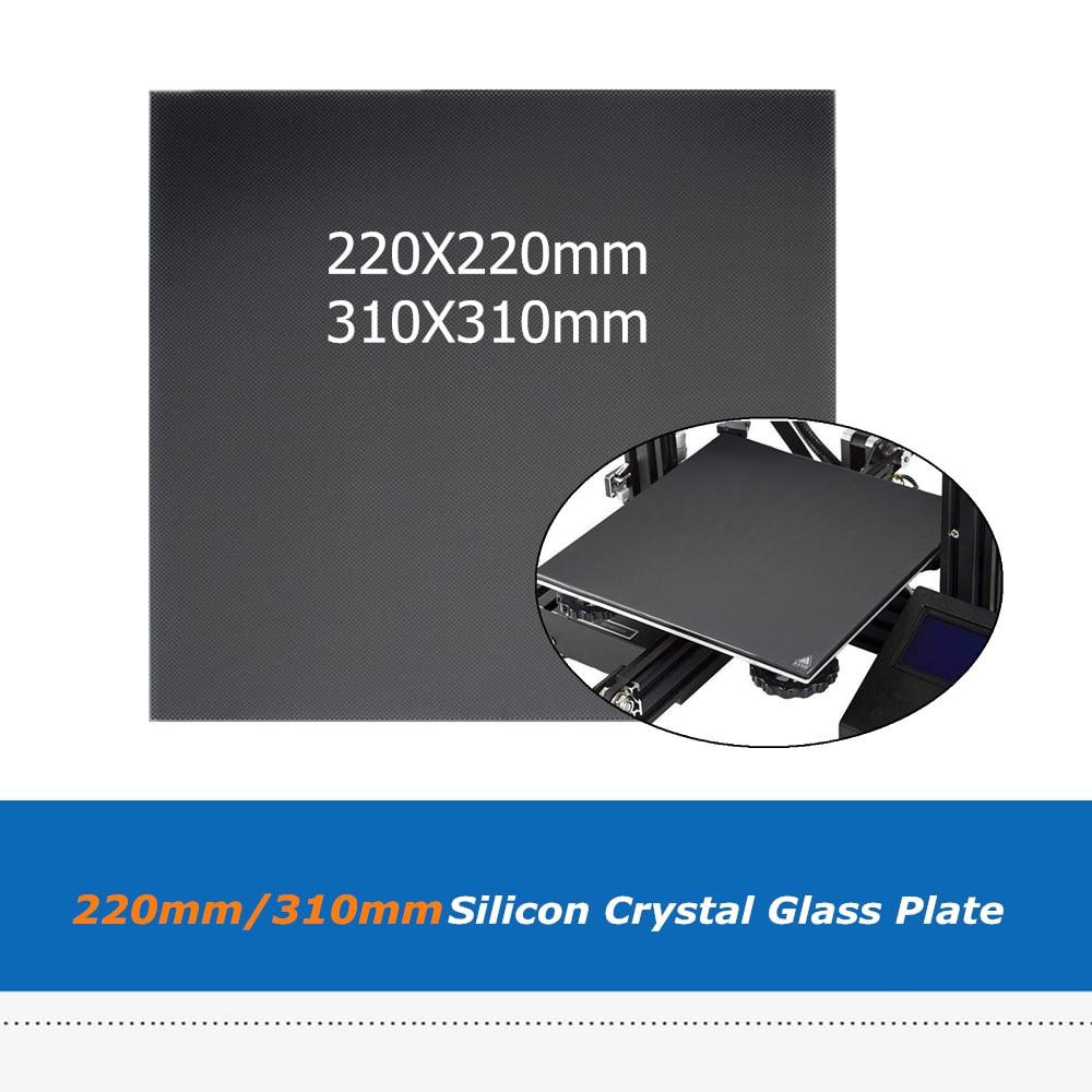 1 unidad de placa de cristal de superficie de plataforma de Hotbed Ultrabase de 220x220mm/310x310mm para pieza de impresora A6 A8 CR-10/CR-10S WanHao i3 3D