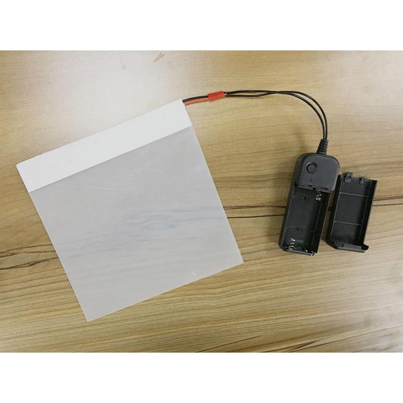 Muestra de tamaño pequeño 2 uds. 11cm x 10cm, Blanco PDLC, tinte inteligente, película Pravicy, tinte de ventanilla inteligente, vinilo de vidrio conmutable