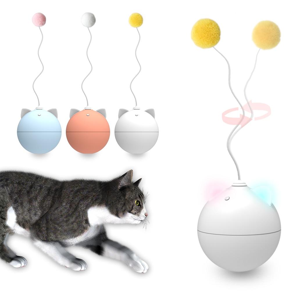 Juguete eléctrico para gato, pelota de auto rodante, pluma, juguete de gato de juguete, palo de juguete, DAG-ship