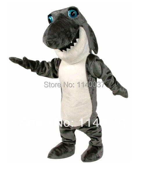 Mascota gris oscuro traje de la mascota de tiburón mandíbula disfraz de la mascota personaje de dibujos animados carnaval disfraz de disfraces de fiesta