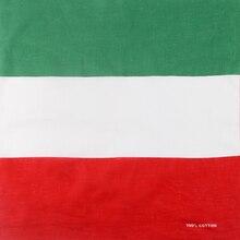 WINFOX-Hip Hop coton vert blanc rouge   Drapeau ditalie, Bandanas