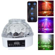 RGB LED BOLA MÁGICA luz activada por voz luces de Fiesta de DJ rotatorias Barra de vacaciones Navidad etapa iluminación efecto DMX512 Control