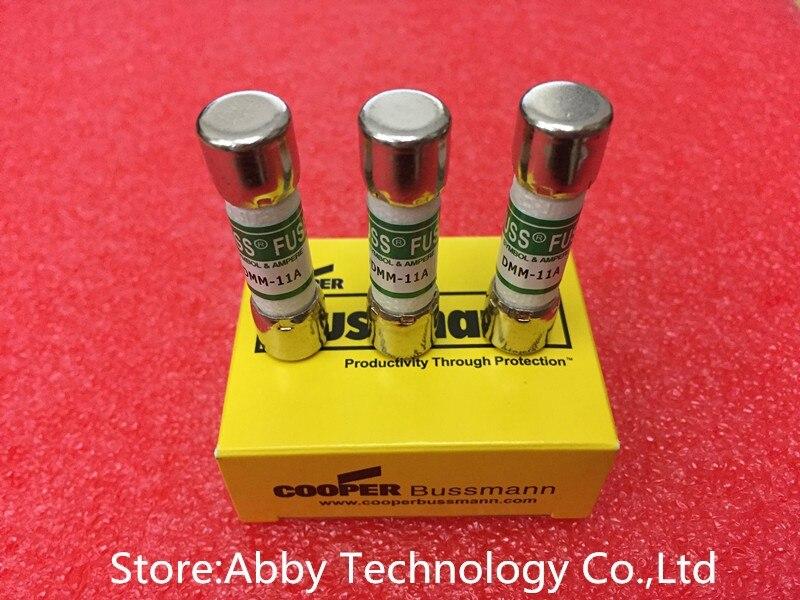 3 pcs fusíveis BUSS DMM-B-11A DMM-11AR DMM-11A 10x38mm 1000 v 11A DMM com fusível para multímetro fluke f87V/F175/F177/F179/F287/F289