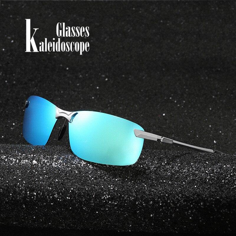 Gafas de Calidoscopio polarizadas de hombre para conducir, gafas de sol con marco de Metal, gafas de sol masculinas para conductores de coche, gafas antideslumbrantes