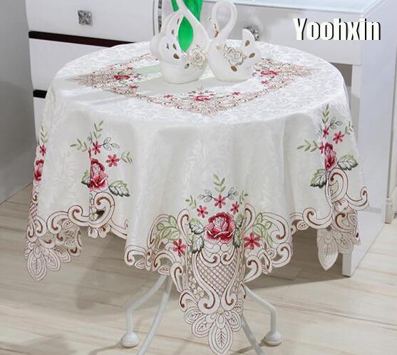 Современная квадратная кружевная скатерть с вышивкой, скатерть, мантель, обеденный чайный журнальный столик, покрытие, наппэ, кухня, Рождественский Свадебный декор