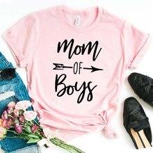 Mom of boys flecha mujer camiseta algodón Casual divertida camiseta para señora chica Top Tee Hipster Drop Ship NA-237