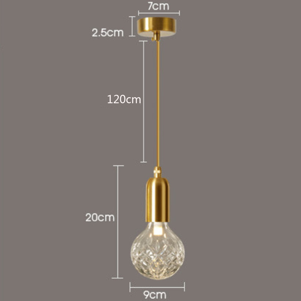 Minimalism Glass Pendant Light Lamp G9 Holder Pendant Light Socket LED Bulb copper color Bar cafe Kitchen bedside home decor  - buy with discount