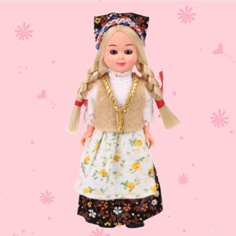 Regalo de los niños Muñecas 5.5 inch mini muñeca Polonia Yong mujer étnica ropa bebé étnica Muñecas Kid Juguetes para Niñas /Niños 1001-002