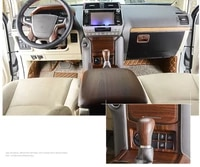 luxury abs wood chrome 34 pcs for toyota land cruiser prado fj150 2018 car interior cover trim frame decoration car styling