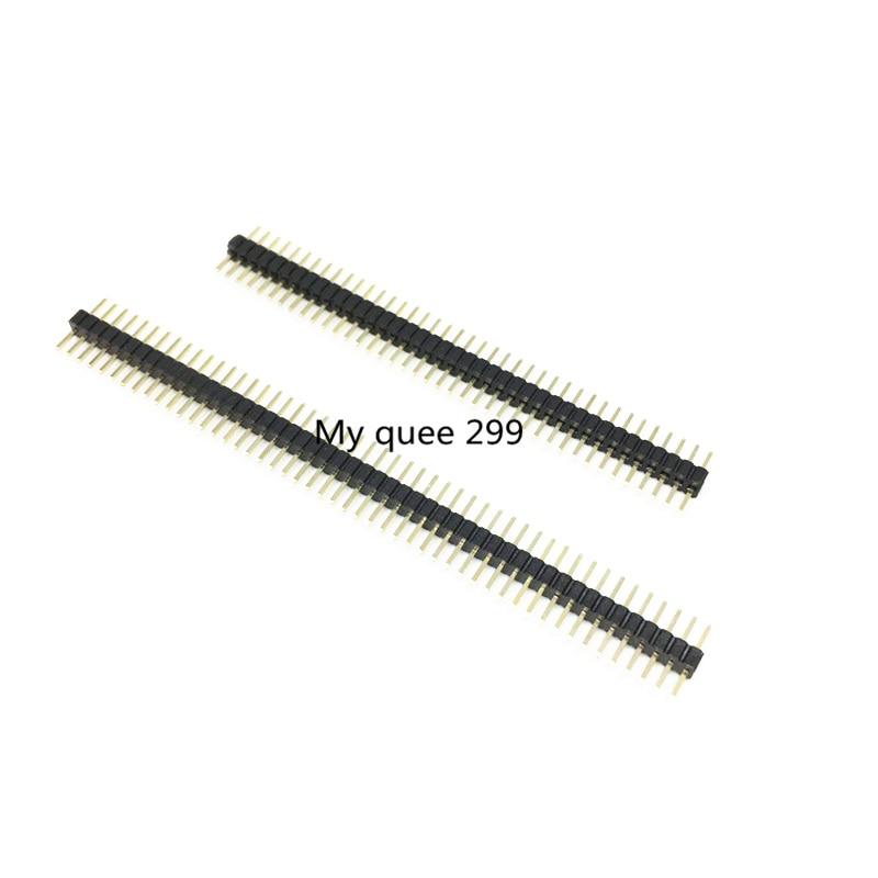 Pin de una fila de paso de 1,27mm 1*40 P/1*50 P 1,27 pin recto de una fila /enchufe de cobre chapado en oro respetuoso con el medio ambiente