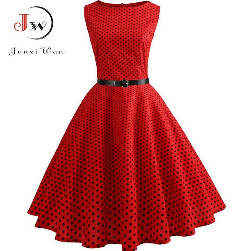 Summer Womens Dresses 2021 Casual Floral Retro Vintage 50s 60s Robe Rockabilly Swing Pinup Vestidos