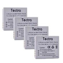 Tectra 4xNB-4L NB 4L Batterie pour Appareil Photo Canon PowerShot SD30 SD40 SD400 SD600 SD1000 TX1 SD750 SD780 EST SD1400 EST ELPH 300